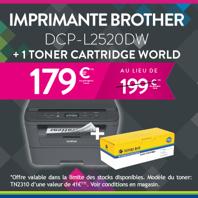 imprimante brother DCPL2520DW - Cartridge World Périgueux